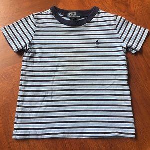 Polo short sleeve blue striped T perfect sz 24mo